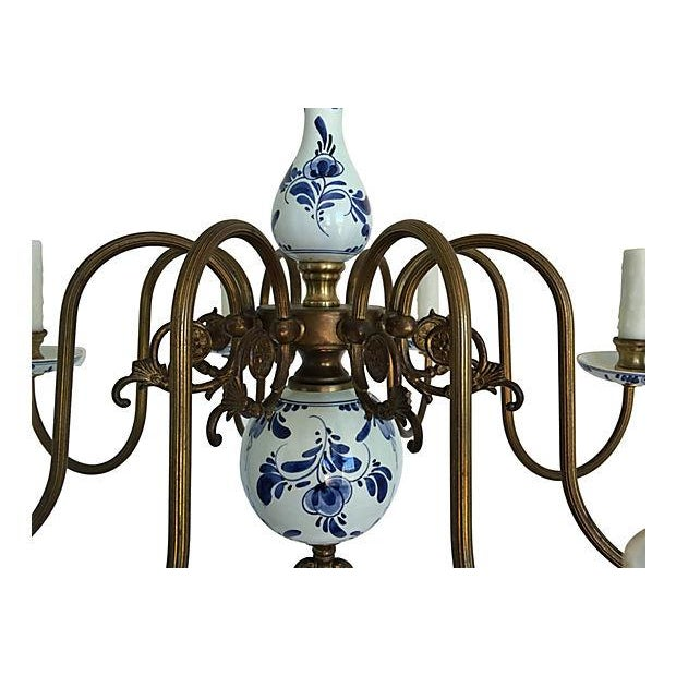 Blue & White Porcelain Chandelier - Image 2 of 8