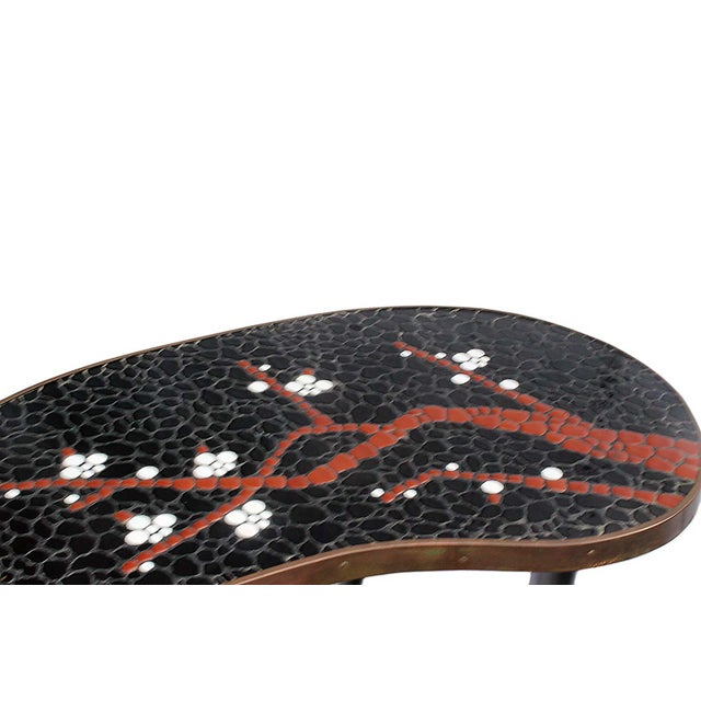 Atomic-Style Mosaic Side Tables - A Pair - Image 3 of 4