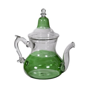 Moroccan Green Glass Teapot