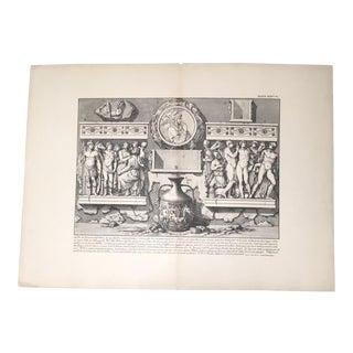 """Antique Architectural Lithograph After Piranesi, """"A Uno De' Fianchi Dell' Urna"""""""