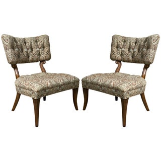 Kravet James Mont Style Lounge Chairs - Pair