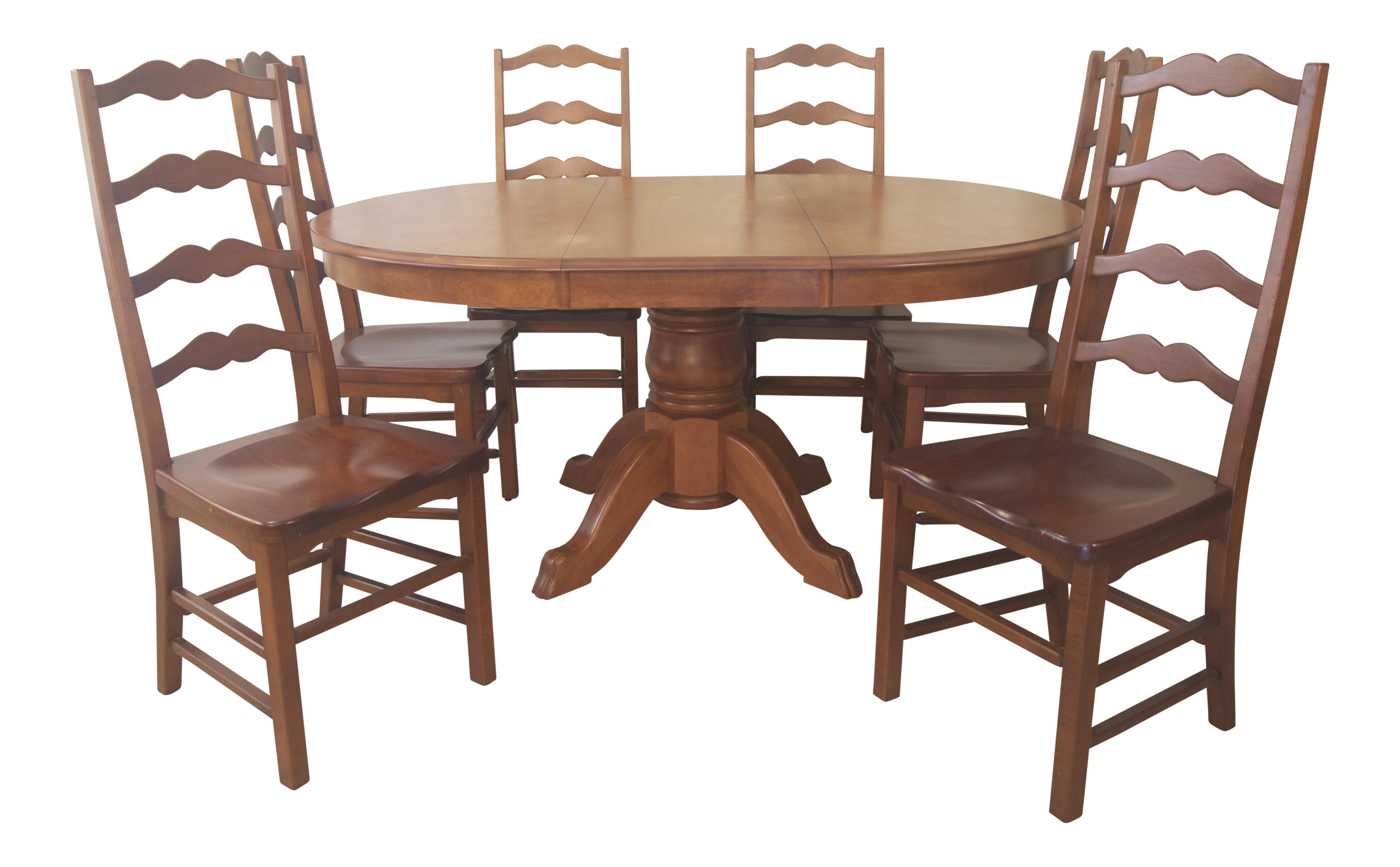 Dining Table (Bermex) U0026 Ladder Back Style Chairs   Image 1 Of 10