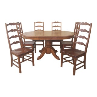 Dining Table (Bermex) & Ladder Back Style Chairs