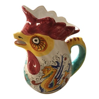 Deruta-Like Rooster Pitcher
