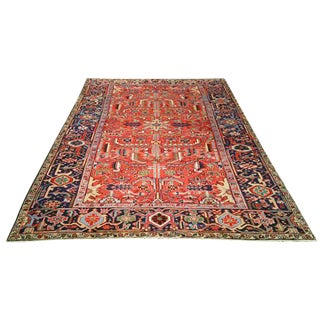 Persian Heriz Hand-Knotted Rug - 6′6″ × 9′11″