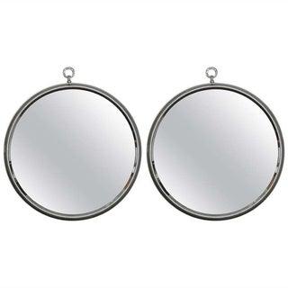 1950s Round Silver Mirrors- A Pair