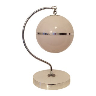 Modern Chrome Hanging Orb Lamp