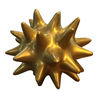 Small Decorative Gold Spike Ball