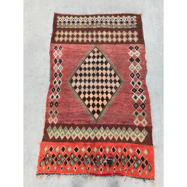 "Vintage Moroccan Boujad Rug - 4'9"" x 8'2"" - Image 2 of 7"