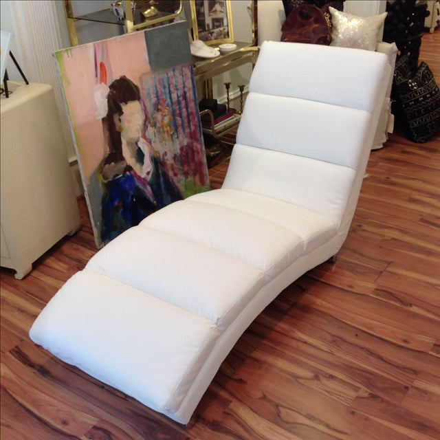 White Chaise Lounge - Image 2 of 7