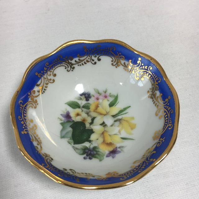 French Limoges Floral Dish - Image 6 of 6
