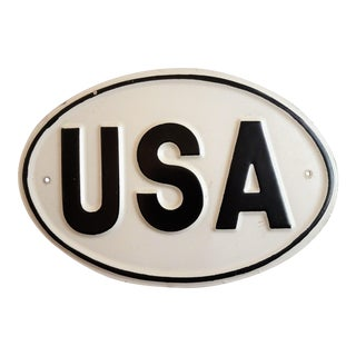 Vintage USA Car Decal Sign
