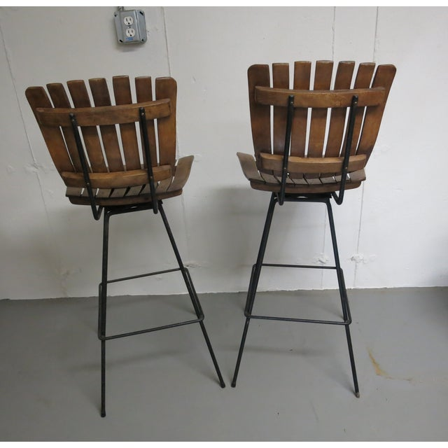 Arthur Umanoff Bar Stools - a Pair - Image 5 of 6