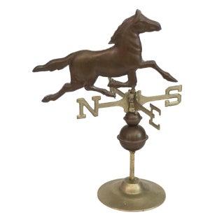Vintage Brass Horse Weathervane