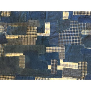 Ralph Lauren Indigo Hand-Stitched Patchwork Fabric 2006 - 2.5 Yards