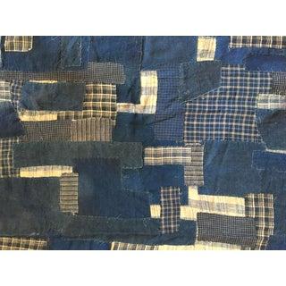 Ralph Lauren Indigo Hand-Stitched Patchwork Fabric 2006 - 2.5 Yards