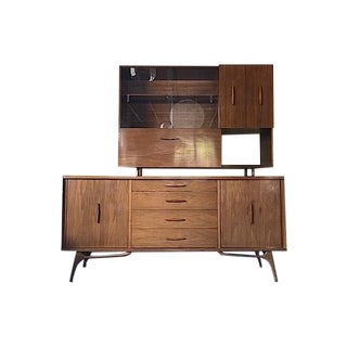 Mid-Century Wall Unit With Bar