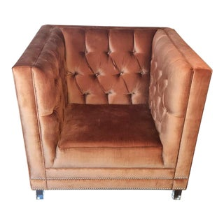 Modshop Tufted Copper Velvet Accent Chair