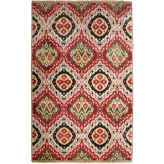 """Ikat Hand-Knotted Luxury Rug - 7'11"""" x 10'3"""""""