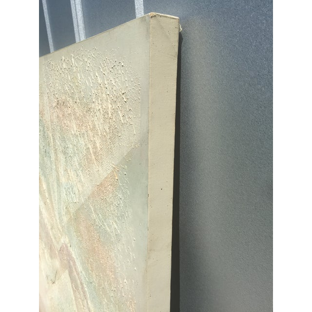 Extra Large- Lee Reynolds Sunrise Mid Century Modern Pastel Abstract Canvas Painting Signed - Image 6 of 11