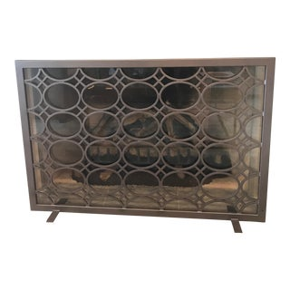 Transitional Metal Fireplace Screen