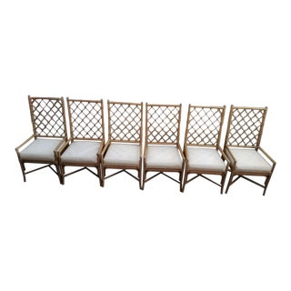 Selamat Bamboo Rattan Dining Chairs - Set of 6