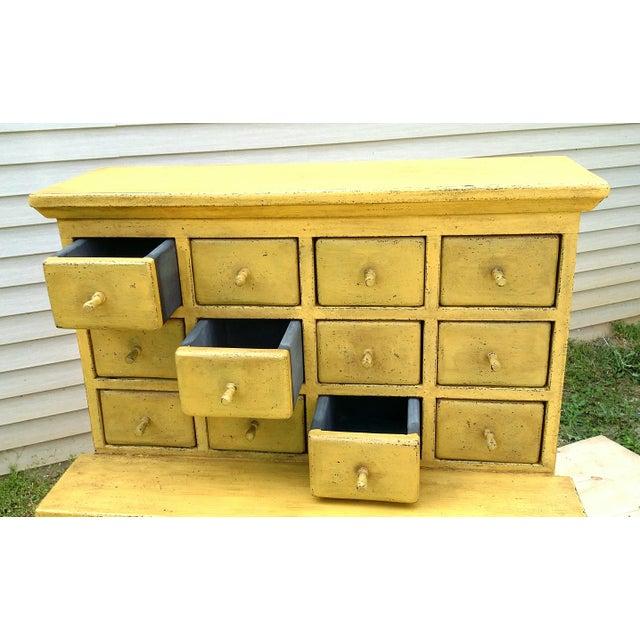 Handmade Yellow Apothecary Cupboard - Image 7 of 10