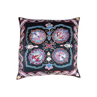 Silk Embroidered Uzbek Pillow Sham