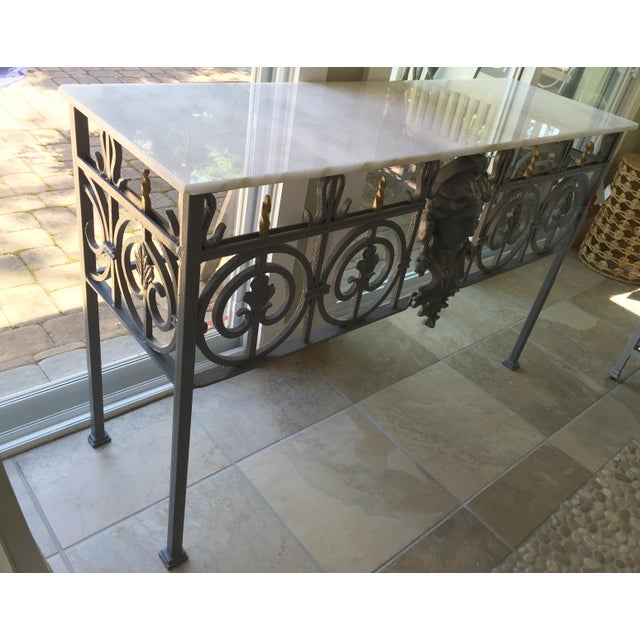 Antique Marble Top Console Table - Image 5 of 11