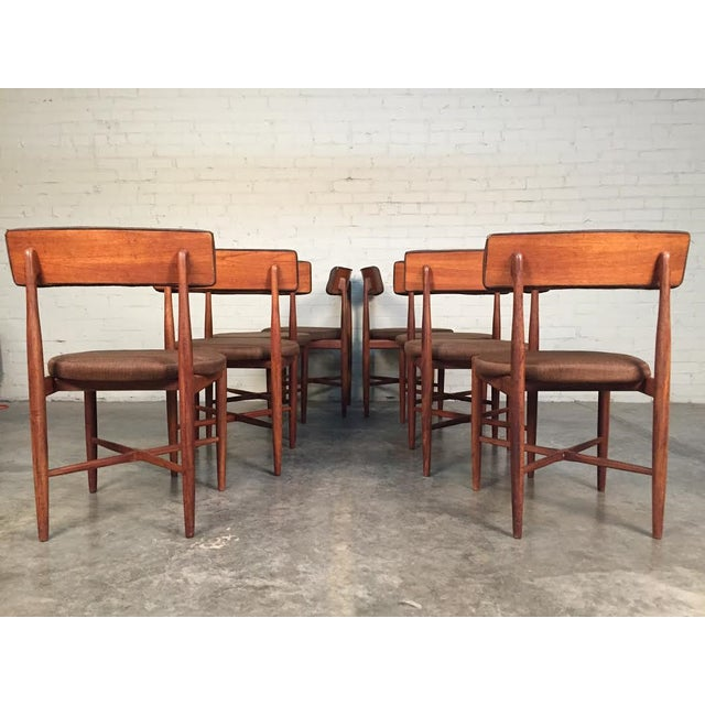 Mid century modern g plan fresco teak dining chairs set for G plan teak dining room chairs