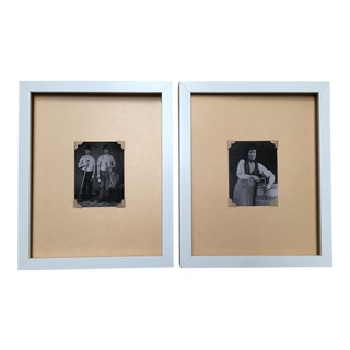 """At Work"" Framed Daguerreotype Prints - A Pair"