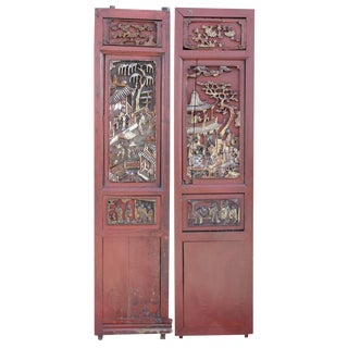 Red & Gilt Chinese Panels