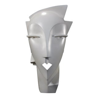 Lindsey Balkweill 1984 Vintage Sculptural Plaster Head
