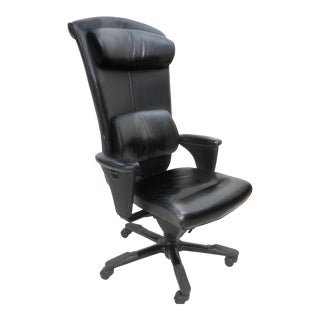 Black Leather Hag Signet Executive Chair