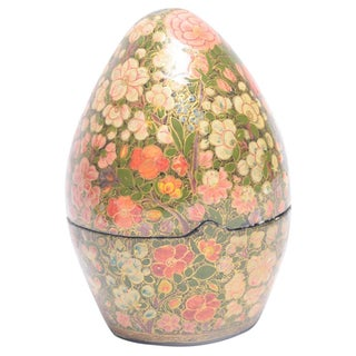 Kashmiri Standing Egg Shaped Box