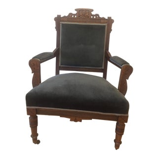 Victorian Eastlake Parlor Chair
