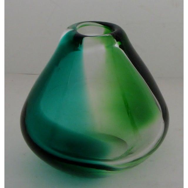 Erickson Vintage Blue & Green Glass Vase - Image 2 of 6