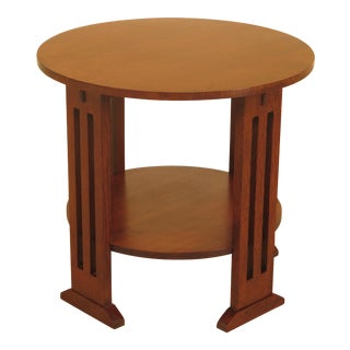 Stickley Round Mission Oak Occasional Table