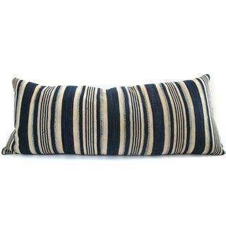 Indigo Striped Pillow No. 1