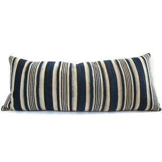 Indigo Striped Pillow No. 1