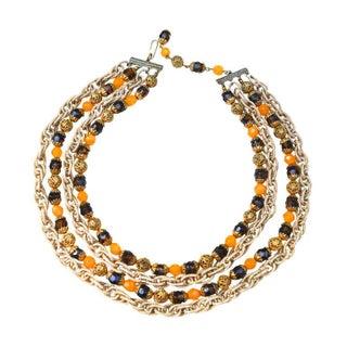 Josef Morton Signed 1960S's Necklace