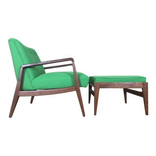Jens Risom Lounge Chair & Ottoman