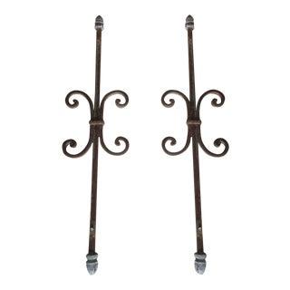 Antique Victorian Iron Garden Ornaments- A Pair