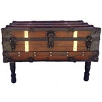 Image of Antique Steamer Trunk/Coffee Table