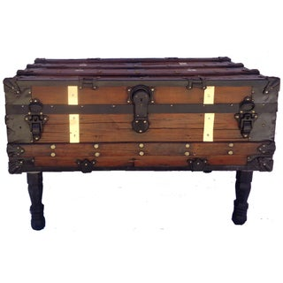 Antique Steamer Trunk/Coffee Table