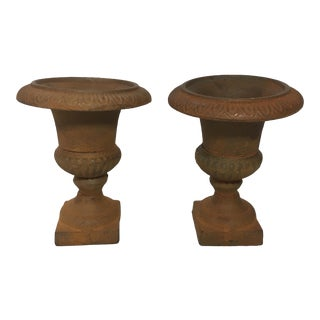 Mini Cast Iron Urns - Pair