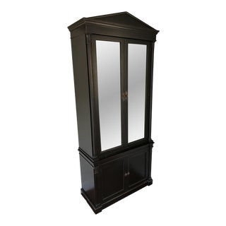 Contemporary Directoire Style Ebonized Cabinet