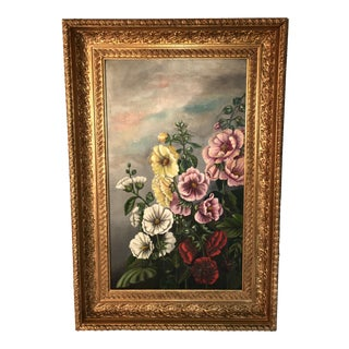 Antique Floral Oil Painting