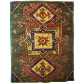 """New Contemporary Hand Knotted Area Rug - 9'6"""" x 12'2"""""""