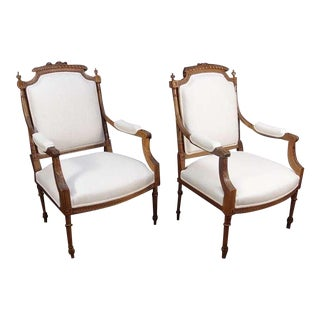 A Pair of French Louis XVI Style Fateuils